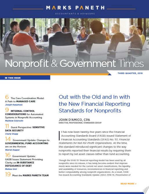 NONPROFIT & GOVERNMENT TIMES, Q3 2018