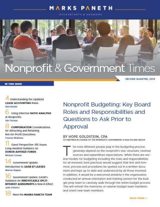 NONPROFIT & GOVERNMENT TIMES, Q2 2018