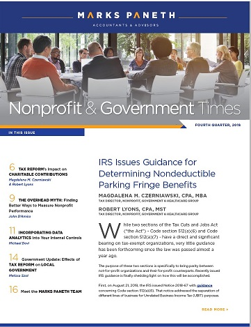 NONPROFIT & GOVERNMENT TIMES, Q4 2018
