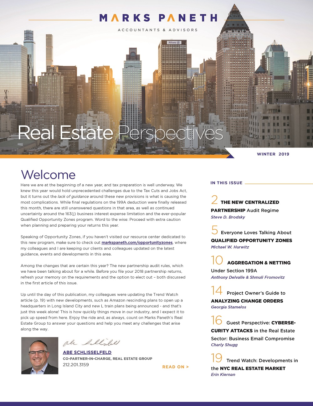 Real Estate Perspectives, Winter 2019