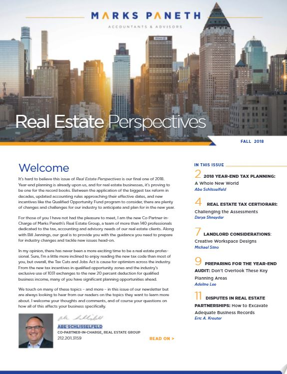REAL ESTATE PERSPECTIVES, FALL 2018