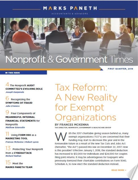 THE NONPROFIT & GOVERNMENT TIMES, Q1 2018