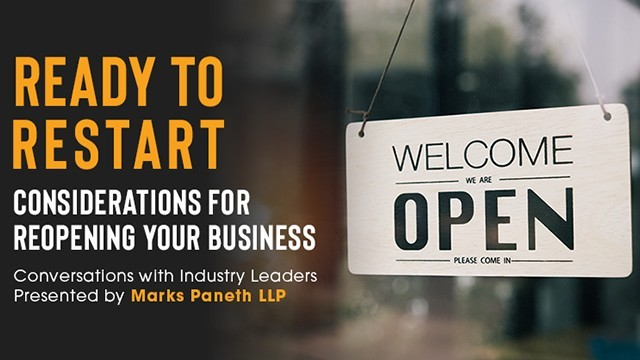 Image: Ready to Restart: Considerations for Reopening Your Business