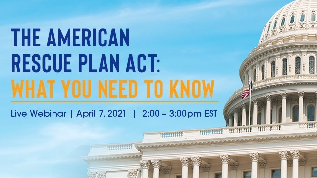 Image: The American Rescue Plan Act: What You Need to Know